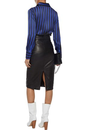 MAGDA BUTRYM Napoli striped silk-satin shirt