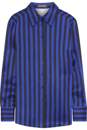 MAGDA BUTRYM Napoli striped silk-satin shirt