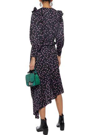 MAGDA BUTRYM Tarragona asymmetric floral-print silk-satin midi dress