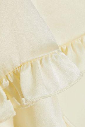 MAGDA BUTRYM Avola cape-effect ruffled silk-satin midi dress