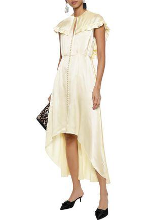 b66ea885b1 Avola cape-effect ruffled silk-satin midi dress | MAGDA BUTRYM ...