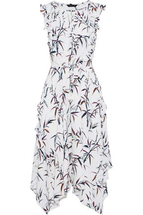 ec3b122c7f RACHEL ZOE Pippa ruffle-trimmed printed silk crepe de chine midi dress ...