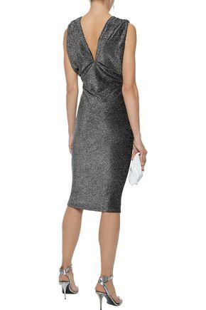 W118 by WALTER BAKER Jolie metallic stretch-knit dress