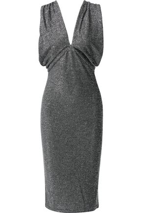 W118 by WALTER BAKER Jolie metallic stretch-knit dress