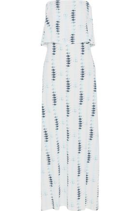 TART COLLECTIONS Strapless printed stretch-modal maxi dress