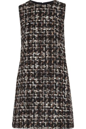DOLCE & GABBANA Bouclé-tweed mini dress