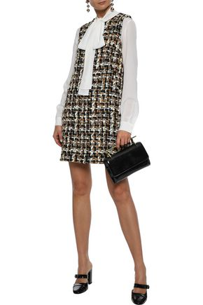 DOLCE & GABBANA Cotton bouclé-tweed mini dress