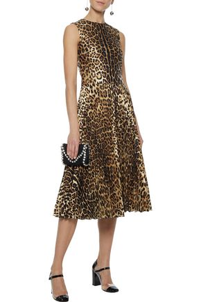 REDValentino Metallic leopard-jacquard midi dress