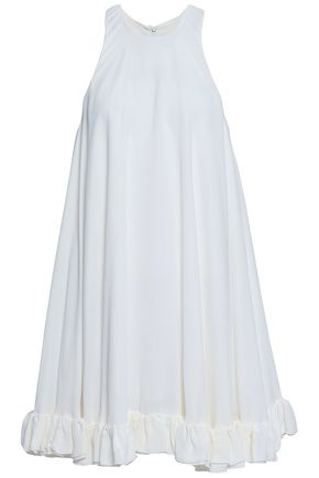 MSGM Ruffled crepe halterneck mini dress