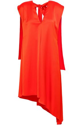MSGM Cape-effect satin-crepe top