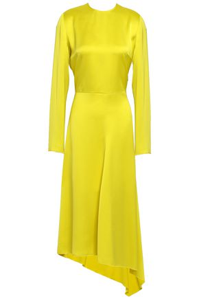 MSGM Satin-crepe midi dress