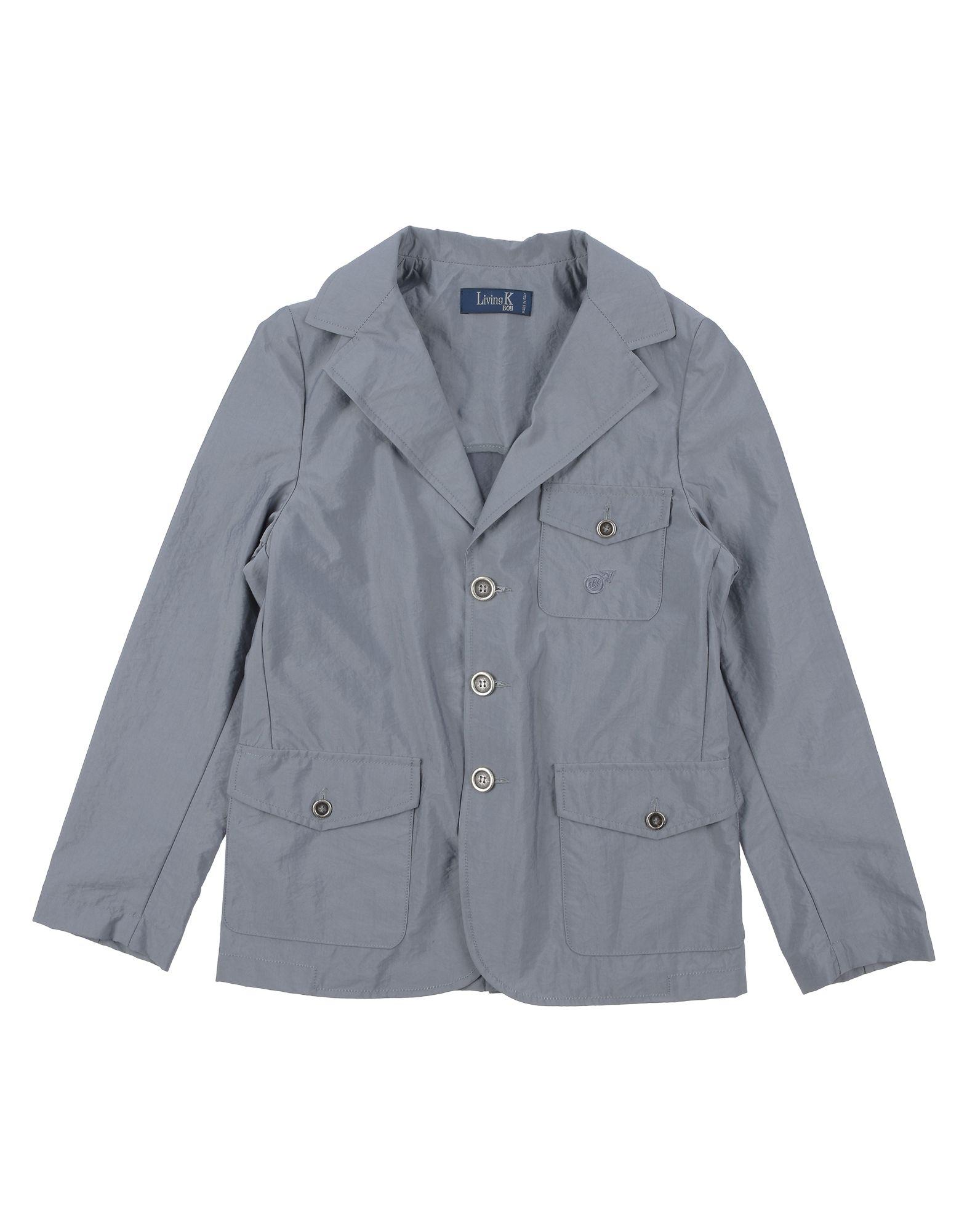 Living K Boy Kids' Suit Jackets In Gray