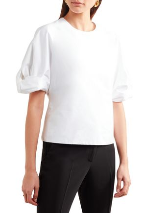 ROSETTA GETTY Cotton-poplin top