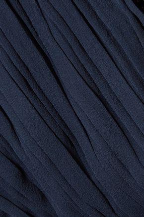 ALICE + OLIVIA Ruffled silk-georgette maxi dress