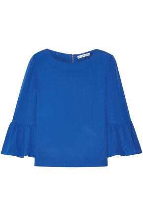 ALICE + OLIVIA Silk crepe de chine shirt
