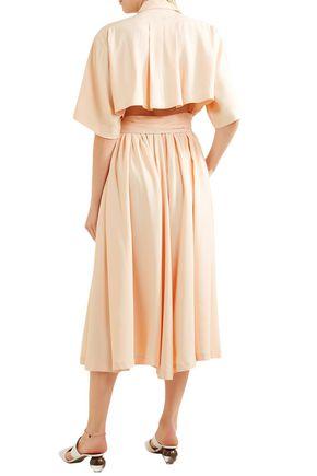 KHAITE Leilani crepe shirt dress