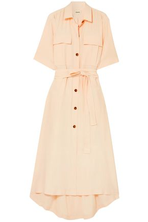 KHAITE Leilani crepe shirt dress