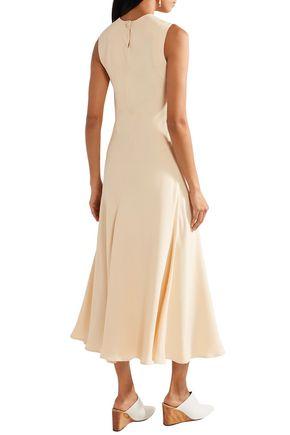 KHAITE Brenda crepe midi dress