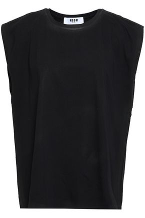 MSGM Appliquéd cotton-jersey top