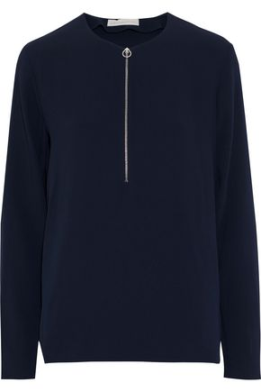 STELLA McCARTNEY Zip-detailed crepe top
