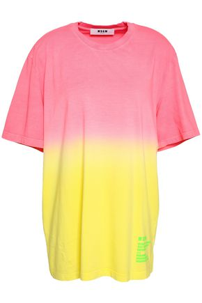 MSGM Printed dégradé cotton-jersey T-shirt
