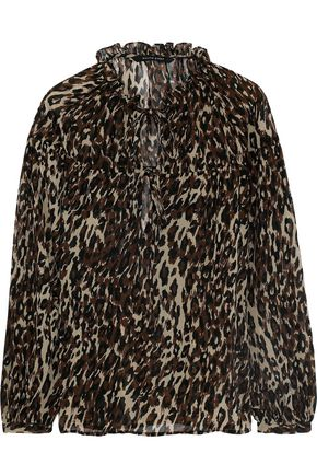 W118 by WALTER BAKER Theima leopard-print chiffon blouse