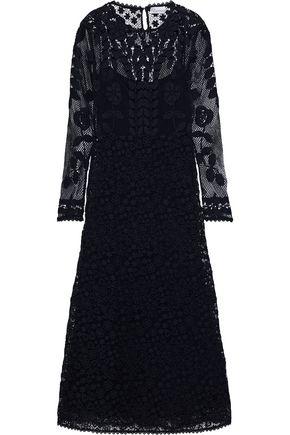 REDValentino Cotton guipure lace midi dress