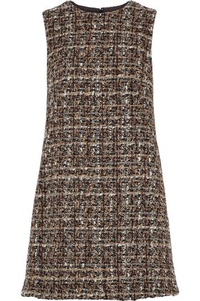 DOLCE & GABBANA Wool-blend bouclé-tweed mini dress