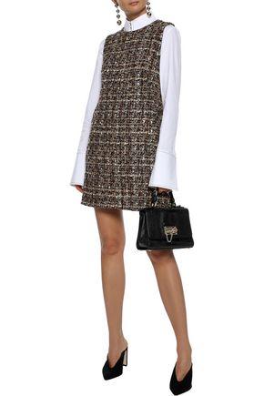 DOLCE & GABBANA Wool-blend bouclé-tweed mini dress