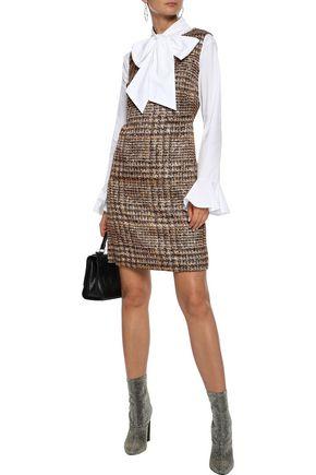 DOLCE & GABBANA Checked silk-blend mini dress