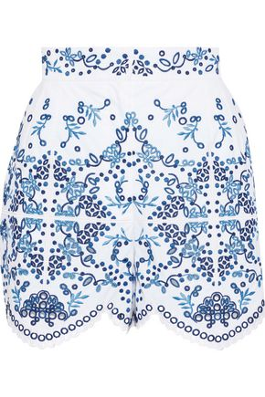 dae74146ee8 DOLCE   GABBANA Broderie anglaise cotton-blend shorts