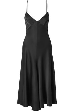 KHAITE Carolina satin-crepe midi slip dress