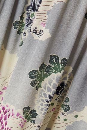 CO Floral-print silk-faille maxi dress