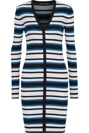 DOLCE & GABBANA Striped silk cardigan