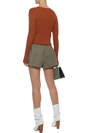 REDValentino Donegal wool shorts