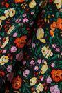 GANNI Joycedale floral-print washed-silk shirt