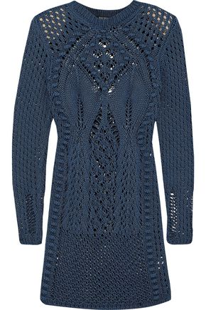 BALMAIN Crocheted cotton mini dress