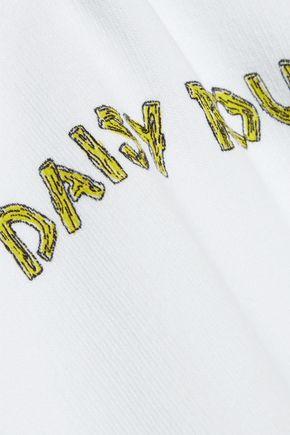 GANNI Lott Isoli printed cotton-fleece sweatshirt