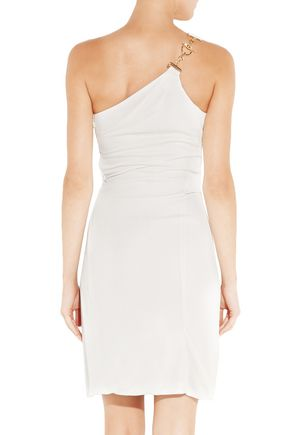 44405d826 One-shoulder ruched stretch-crepe mini dress | GUCCI | Sale up to 70 ...