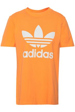 ADIDAS ORIGINALS | Adidas Originals Printed Cotton-Blend Jersey T-Shirt | Goxip
