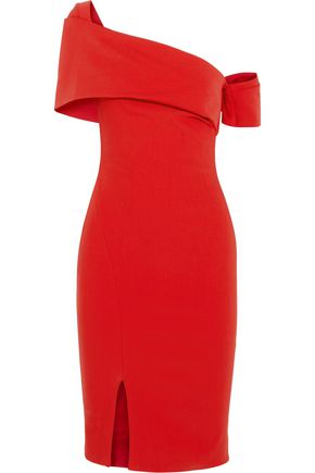 HANEY Emily one-shoulder stretch-jersey dress