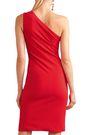 HANEY Donna one-shoulder cutout stretch-crepe dress