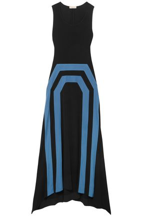 TORY BURCH Printed stretch-jersey maxi dress