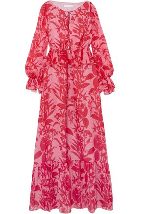BORGO DE NOR Lily floral-print silk-georgette maxi dress