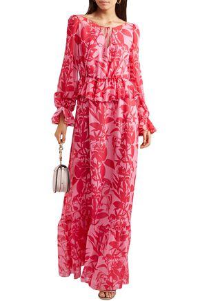 c2bad17688b6b BORGO DE NOR Lily floral-print silk-georgette maxi dress