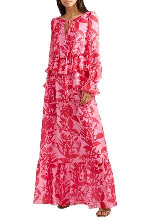 BORGO DE NOR Lily floral-print silk-georgette maxi dress