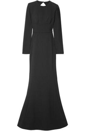 REBECCA VALLANCE Cutout stretch-crepe gown