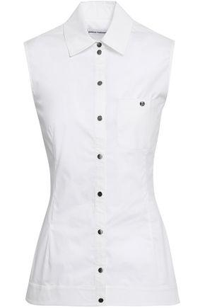 PACO RABANNE Cotton-blend poplin shirt