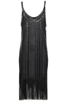 PACO RABANNE Fringed chainmail dress