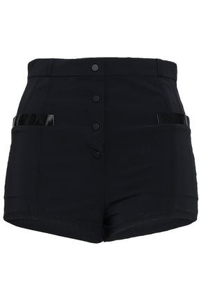PACO RABANNE Satin-trimmed shell shorts